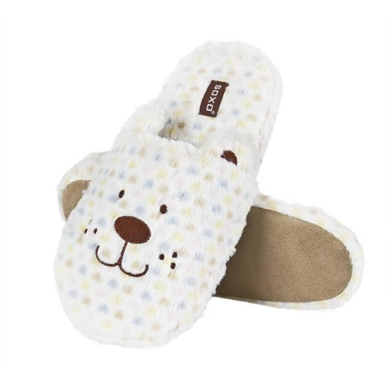 Chaussons SOXO animaux en peluche