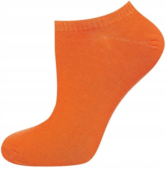 Footies femme SOXO rouge, orange, jaune - 3 pièces