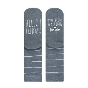 "SOXO chaussettes femme ""hello Friday! I've been waiting for"""